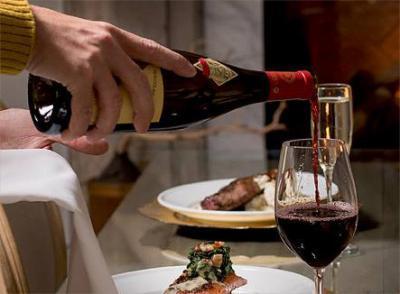 wine pairing to dinner